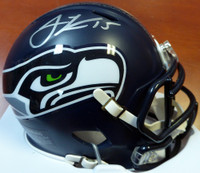 Jermaine Kearse Autographed Seattle Seahawks Speed Mini Helmet In Silver