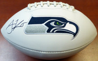 Jermaine Kearse Autographed Seattle Seahawks Logo Football MCS Holo