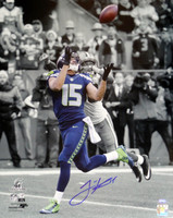 Jermaine Kearse Autographed 16x20 Photo Seattle Seahawks NFC Championship Spotlight