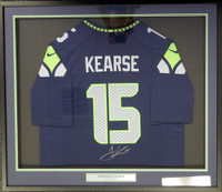 Seattle Seahawks Jermaine Kearse Autographed Framed Blue Nike Jersey MCS Holo