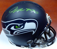 Jarran Reed Autographed Seattle Seahawks Mini Helmet In Green MCS Holo