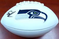 Cortez Kennedy Autographed White Logo Football Seattle Seahawks MCS Holo