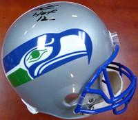 "Cortez Kennedy Autographed Seattle Seahawks Throwback Full Size Helmet ""HOF '12"" MCS Holo"
