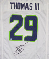 Seattle Seahawks Earl Thomas Autographed White Nike Jersey Size XL MCS Holo