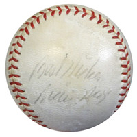 """Willie Mays Autographed NL Giles Baseball San Francisco Giants """"Best Wishes"""" 1950's Vintage Signature PSA/DNA #Z05624"""