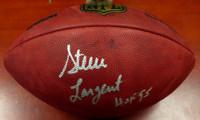 """Steve Largent Autographed NFL Leather Football Seattle Seahawks """"HOF 95"""" MCS Holo"""