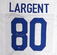 "Seattle Seahawks Steve Largent Autographed White Jersey ""HOF 95"" MCS Holo"