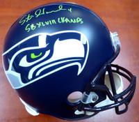 """Steven Hauschka Autographed Seattle Seahawks Full Size Replica Helmet In Green """"SB XLVIII Champs"""" - MCS COA"""