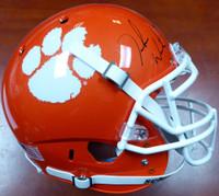 DeShaun Watson Autographed Clemson Tigers Orange Authentic National Champs Sticker Full Size Helmet BAS