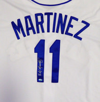 Seattle Mariners Edgar Martinez Autographed White Majestic Cool Base Jersey Size XL