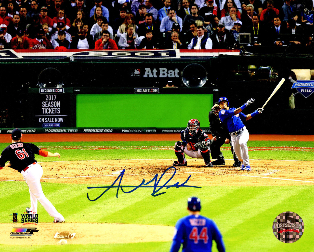 Addison Russell Signed Chicago Cubs 2016 World Series Game 6 Grand Slam 8x10 Photo