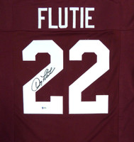 Boston College Eagles Doug Flutie Autographed Red Jersey Beckett BAS