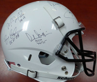 Heisman Trophy Winners Autographed Full Size White Helmet With 24 Signatures Including Barry Sanders, Bo Jackson & Marcus Mariota Steiner Holo