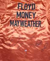 Floyd Mayweather Jr. Autographed Red Boxing Robe Beckett BAS