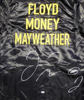 Floyd Mayweather Jr. Autographed Black Boxing Robe Beckett BAS