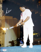 Muhammad Ali Autographed 11x14 Photo Olympic Torch PSA/DNA ITP #4A00771