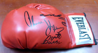 Boxing Greats Autographed Red Everlast Boxing Glove With 3 Signatures - PSA/DNA