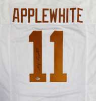 Texas Longhorns Major Applewhite Autographed Hand Signed White Jersey - Beckett COA