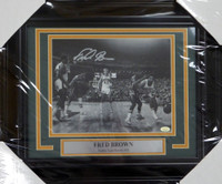 Fred Brown Autographed Signed Framed 8x10 Photo Seattle Sonics - MCS COA