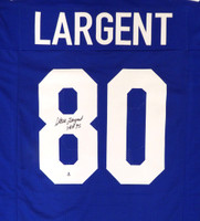 "Seattle Seahawks Steve Largent Autographed Blue Jersey ""HOF 95"" Beckett BAS"