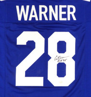 """Seattle Seahawks Curt Warner Autographed Blue Jersey """"ROH 94"""" MCS Holo"""