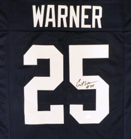 Penn State Nittany Lions Curt Warner Autographed Blue Jersey MCS Holo