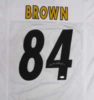 Pittsburgh Steelers Antonio Brown Autographed White Jersey Beckett BAS