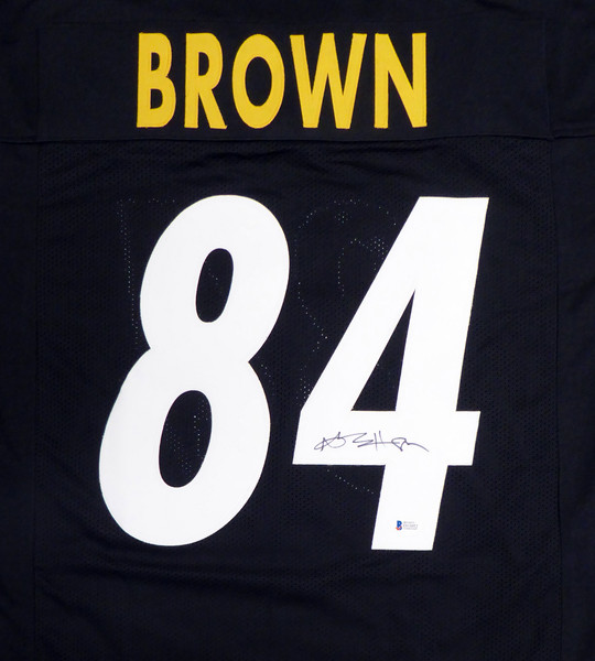Pittsburgh Steelers Antonio Brown Autographed Black Jersey Beckett BAS