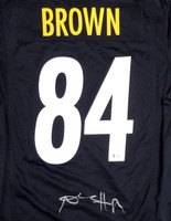 Pittsburgh Steelers Antonio Brown Autographed Black Nike Jersey Size M Beckett BAS