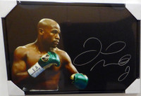 Floyd Mayweather Jr. Autographed Framed 20x30 Canvas Photo Beckett BAS Stock #129107