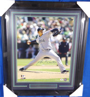 "Felix Hernandez Autographed Framed 16x20 Photo Seattle Mariners ""King Felix"" PSA/DNA #3A54607"