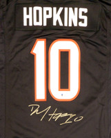 Houston Texans DeAndre Hopkins Autographed Blue Nike Jersey Size L Beckett BAS Stock #129160