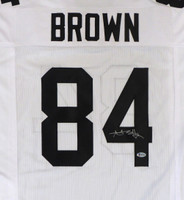 Pittsburgh Steelers Antonio Brown Autographed White Jersey Beckett BAS!