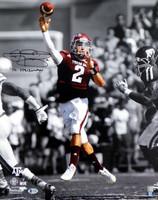 "Johnny Manziel Autographed 16x20 Photo Texas A&M Aggies ""12 Heisman"" Beckett BAS"
