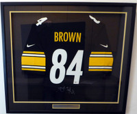 Pittsburgh Steelers Antonio Brown Autographed Framed Black Nike Jersey Beckett BAS