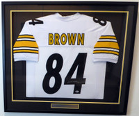 Pittsburgh Steelers Antonio Brown Autographed Framed White Jersey Beckett BAS