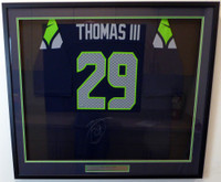 Seattle Seahawks Earl Thomas Autographed Framed Blue Nike Jersey MCS Holo