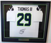 Seattle Seahawks Earl Thomas Autographed Framed White Nike Jersey MCS Holo