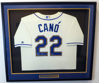 Seattle Mariners Robinson Cano Autographed Framed Cream Majestic Cool Base Jersey MCS Holo