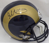 Todd Gurley Autographed Los Angeles Rams Full Size Replica Throwback Helmet Beckett BAS