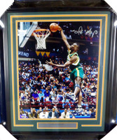 Shawn Kemp Autographed Framed 16x20 Photo Seattle Sonics MCS Holo Stock #126667
