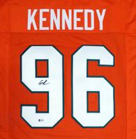Miami Hurricanes Cortez Kennedy Autographed Orange Jersey Beckett BAS
