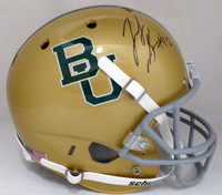 Josh Gordon Autographed Baylor Bears Gold Full Size Replica Helmet Beckett BAS