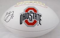 Marshon Lattimore Autographed Ohio State Buckeyes White Logo Football Beckett BAS