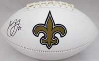 Marshon Lattimore Autographed New Orleans Saints White Logo Football Beckett BAS