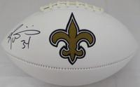 Ricky Williams Autographed New Orleans Saints White Logo Football Beckett BAS