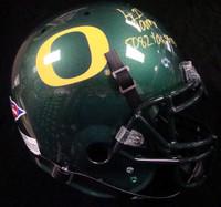 """LaMichael James Autographed Oregon Ducks Full Size Authentic Schutt Helmet """"5082 & 53 TD's"""" PSA/DNA RookieGraph."""