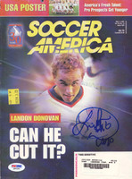 Landon Donovan Autographed Magazine Cover USA PSA/DNA