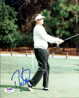 This is an 8x10 Photo that has been hand signed by Davis Love III. The autograph has been certified authentic by PSA/DNA and comes with their sticker and matching certificate of authenticity.