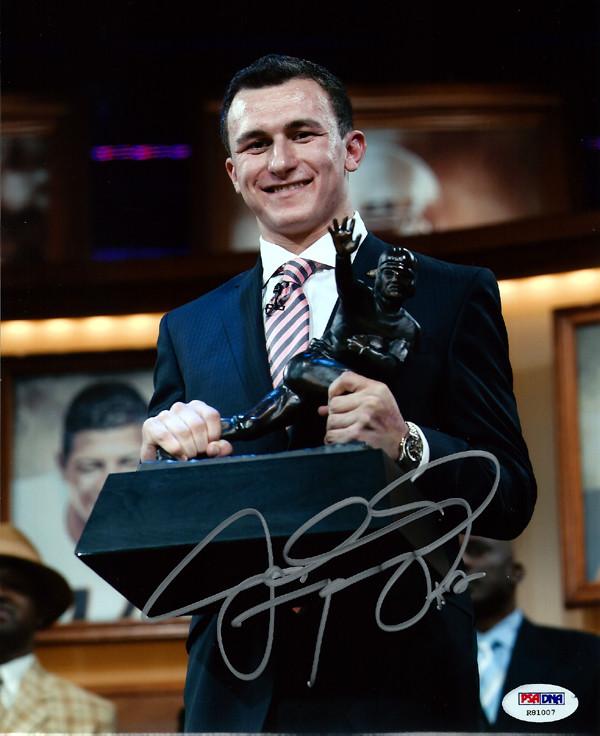 Johnny Manziel Autographed 8x10 Photo Texas A&M Aggies PSA/DNA RookieGraph Stock #64962
